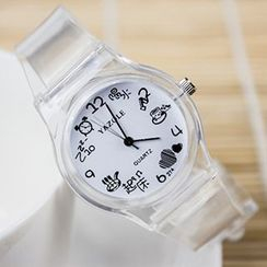 YAZOLE - Transparent Strap Watch