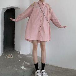 Brooklane - 鏤空肩襯衫裙