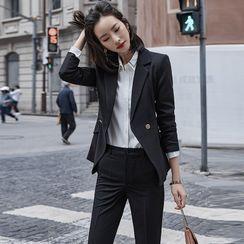 Skyheart - Plain Blazer / Dress Pants / Shirt / Pencil Skirt / Set