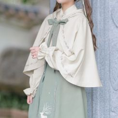 Moriville - Embroidered Hooded Cape