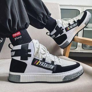 Lazi Boi - High-Top Canvas Sneakers