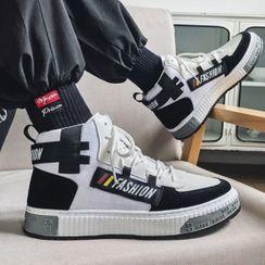 Lazi Boi - 高帮帆布休閒鞋