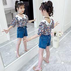 Qin Qin - 小童中袖碎花衬衫