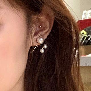 嘀咕家 - 圓球珠飾開口圈環耳環