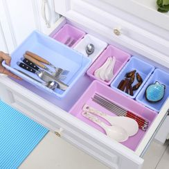 Chiseoul - Retractable Plastic Drawer Organizer