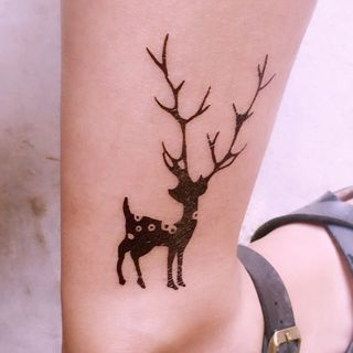 Tattoo Kingdom - Deer Waterproof Temporary Tattoo