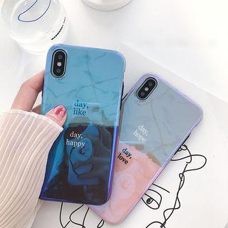 Handy Pie - Lettering Phone Case - iPhone 6 / 6 Plus / 7 / 7 Plus / 8 / 8 Plus / X