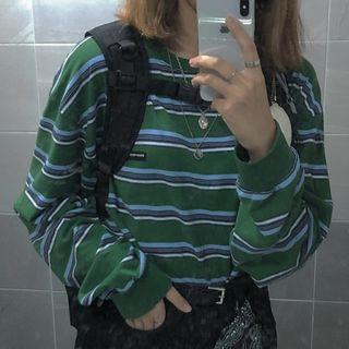 Avox - Long-Sleeve Striped T-Shirt