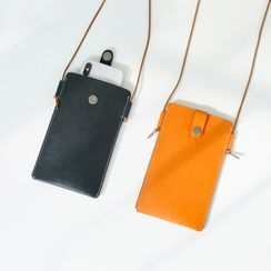 Mango Fish - Genuine Leather Crossbody Phone Pouch