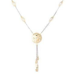 Keleo - 18K White & Yellow Gold Dangling Necklace