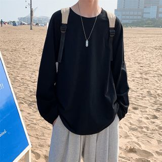 Dukakis - Plain Long-Sleeve T-Shirt