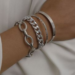 Seirios - Set of 4: Chain Bracelets + Bangles