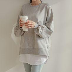 JUSTONE - Set: Loose-Fit Cotton Sweatshirt + Tank Top