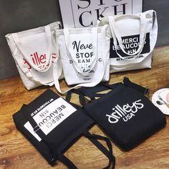ANEMOI - 字母帆布購物袋