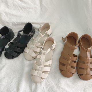 HOGG - Faux Leather Roman Sandals