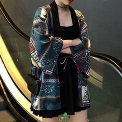 Thinmia(シンミア) - Printed Kimono Jacket