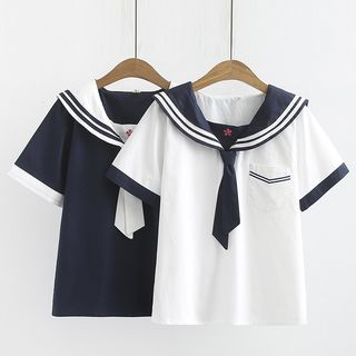 TOJI - 水手領短袖T裇