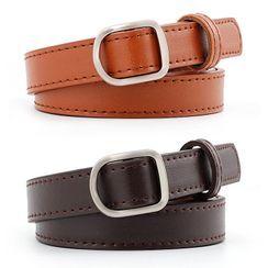 Leatha(リーサ) - Faux Leather Holeless Belt