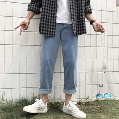 WidoWilder - Washed Straight-Cut Jeans