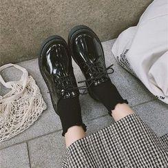時尚麥樂 - 粗跟繫帶鞋