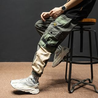 UIXX - Patchwork Buckled-Accent Cargo Jogger Pants