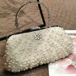 LOLIBOX(ロリボックス) - Faux Pearl Top Handle Clutch