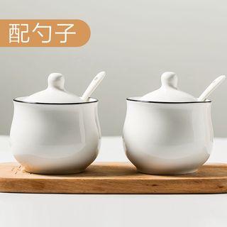 Home Simply - 陶瓷調味罐連蓋及勺