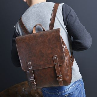Bagolo - Faux-Leather Buckled Backpack