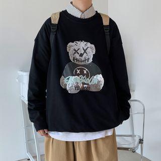 Andrei - Bear Print Sweatshirt