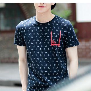 AMPO - 印花短袖T恤