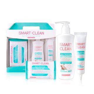 DAYCELL - Smart Cleam Soft Feminine Care Gift Set: Tissue 10pcs + Wash 200ml + Cream 30ml