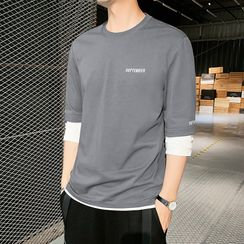 Denimic - Long-Sleeve Mock Two Piece T-Shirt