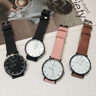 Jikan - Faux Leather Strap Watch