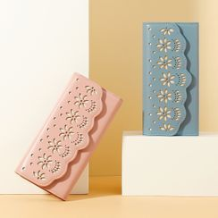 tablarosa - Floral Cutout Trifold Long Wallet