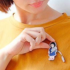 Ballyway - 刺繡女孩飾針(多款設計)