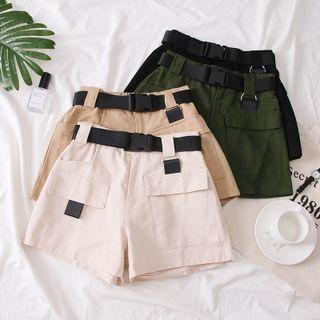 Babique - Cargo Shorts with Nylon Buckle Belt