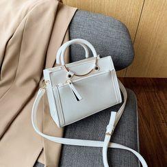 FAYLE - Plain Top Handle Crossbody Bag