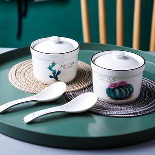 Heysoo - Set: Cactus Print Stew Pot + Spoon