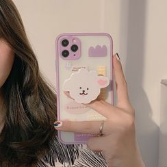 Moonam - Sheep Stand Phone Case - iPhone 12 Pro Max / 12 Pro / 12 / 12 mini / 11 Pro Max / 11 Pro / 11 / SE / XS Max / XS / XR / X / SE 2 / 8 / 8 Plus / 7 / 7 Plus