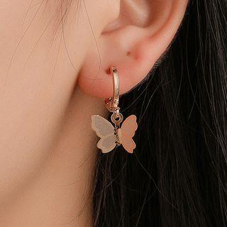 Mulyork - Alloy Butterfly Dangle Earrings