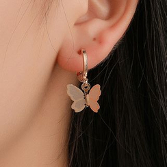 Mulyork - Alloy Butterfly Dangle Earrings
