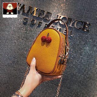 BeiBaoBao(ベイバオバオ) - Faux-Leather Contrast-Trim Satchel