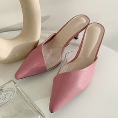 DABAGIRL - Lucite-Detail Pointy Mules