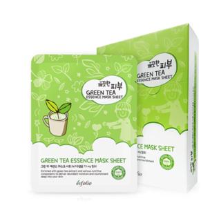 esfolio - Pure Skin Green Tea Essence Mask Sheet Set 10pcs