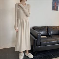 Yaonee - Long-Sleeve Maxi Knit A-Line Dress