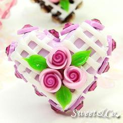 Sweet & Co. - Mini Purple Cake Swarovski Crystal Cake Ring