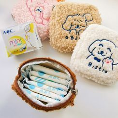COLPO - Animal Embroidered Chenille Sanitary Pouch