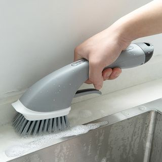 Micy - Kitchen Cleaning Brush with Soap Dispenser
