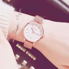 InShop Watches - Set: Milanese Strap Watch + Branches Open Bangle