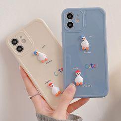 Primitivo - 3D Duck Phone Case - iPhone 12 Pro Max / 12 Pro / 12 / 12 mini / 11 Pro Max / 11 Pro / 11 / SE / XS Max / XS / XR / X / SE 2 / 8 / 8 Plus / 7 / 7 Plus
